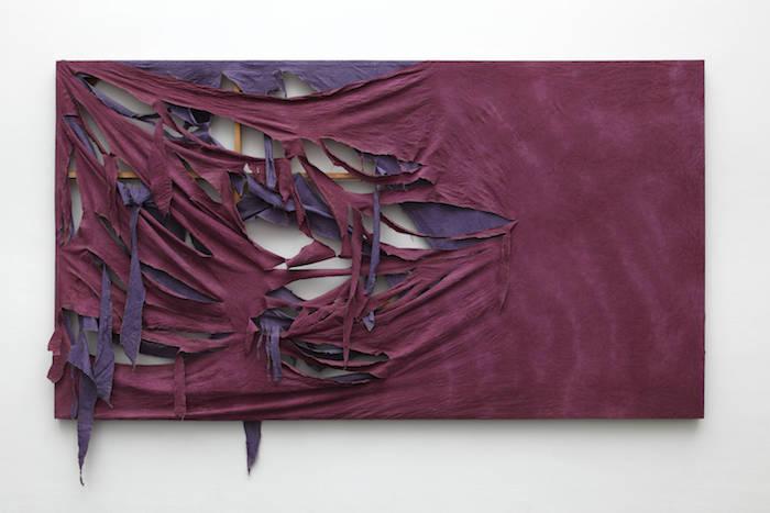 Michael Buthe, My Love to Etienne (1969) Stoff über Keilrahmen, Kunstmuseum Luzern, © Pro Litteris,