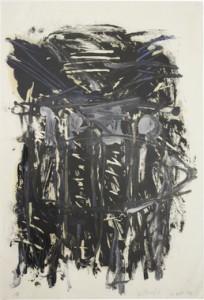 Werk van Georg Baselitz op online veiling bij Paddle8, geschat op 12,000$
