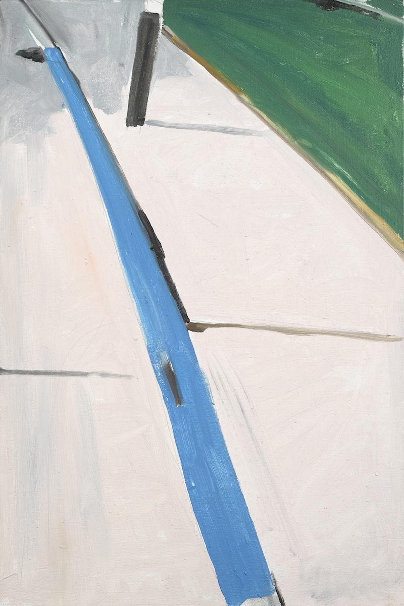 Koen van den Broek, Blue Border #3, 2001, olie op doek. Collectie Provincie Antwerpen P/S 381. Foto: