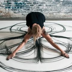 Kinetisch tekenen, het heeft veel weg van Yoga, maar het resultaat is verbluffend
