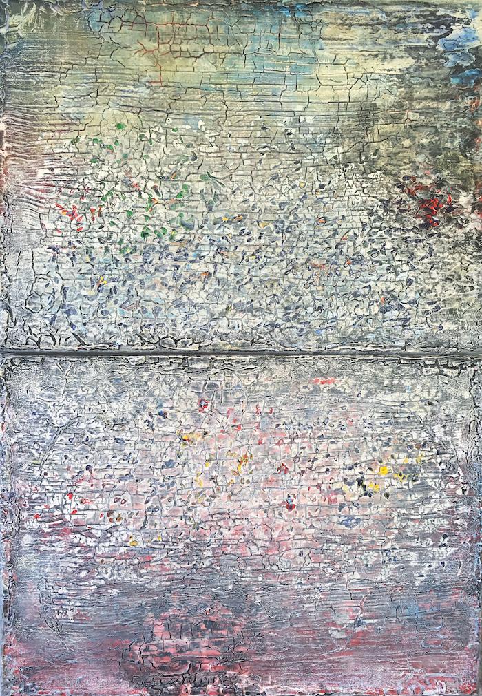Lode Laperre, Scene Shredder Shatter Pattern IV-(A)symmetrophobia III-Colorganogenesis IV)_diptych, 2017, 100x70cm