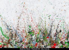 De drippings van Pollock verdergezet… ontdek het werk van Denis De Gloire