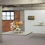 Organische oerstructuren van Jef Faes in het Art Center Hugo Voeten