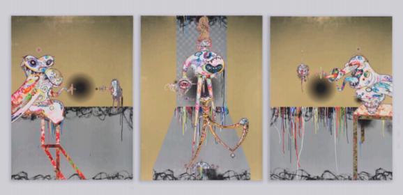 Een grootse solo-tentoonstelling met werk van Takashi Murakami bij Perrotin, New York
