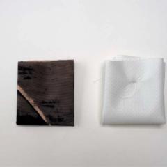 'Folding -folding', samenwerking tussen Hilde Overbergh en Masoumeh Mohtadi bij Rooberoo mansion art gallery, Teheran