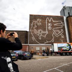 Monumentaal muurwerk van Keith Haring na 30 jaar (her)ontdekt in Amsterdam