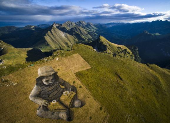 Ontdek de verrassende landscape art van Saype