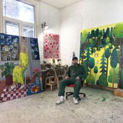 Heroïsche ridders, kleurrijke bossen en exotische dieren: Ben Sledsens bij Tim Van Laere Gallery