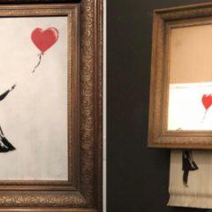 Banksy: dit werk vernietigt zichzelf na … de veiling