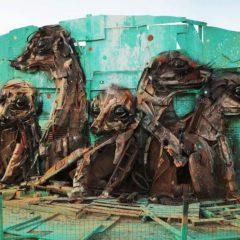 'Trash animals', street art met een boodschap van Bordalo II