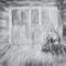 Kunstenaar Joris De Geest bokst tegen het canvas