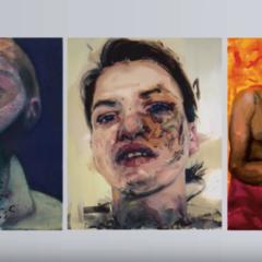 Drie zelfportretten die werden beïnvloed door gebeurtenissen in het privé-leven. Bacon, Saville en Oehlen