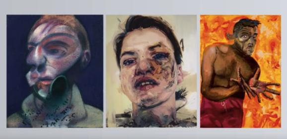 Drie zelfportretten die werden beïnvloed door gebeurtenissen in het privéleven. Bacon, Saville en Oehlen