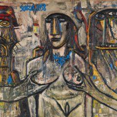 Focus op een kunstwerk: Francis Newton Souza's herwerking van 'Susanna and the elders'