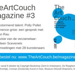 Nieuwe ontdekkingen in het kunstlandschap! Bestel nu het volgende nummer van TheArtCouch magazine
