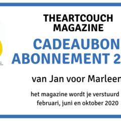 Geef een abonnement op TheArtCouch Magazine 2020 cadeau!