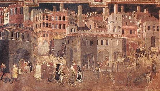 Ambrogio Lorenzetti - De gevolgen van goed bestuur in de stad (1338)