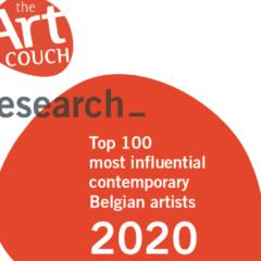 Nieuwe studie over Top100 meest invloedrijke hedendaagse kunstenaars in België!