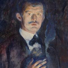 """Focus op een meesterwerk: """"Zelfportret met sigaret"""" van Edvard Munch"""